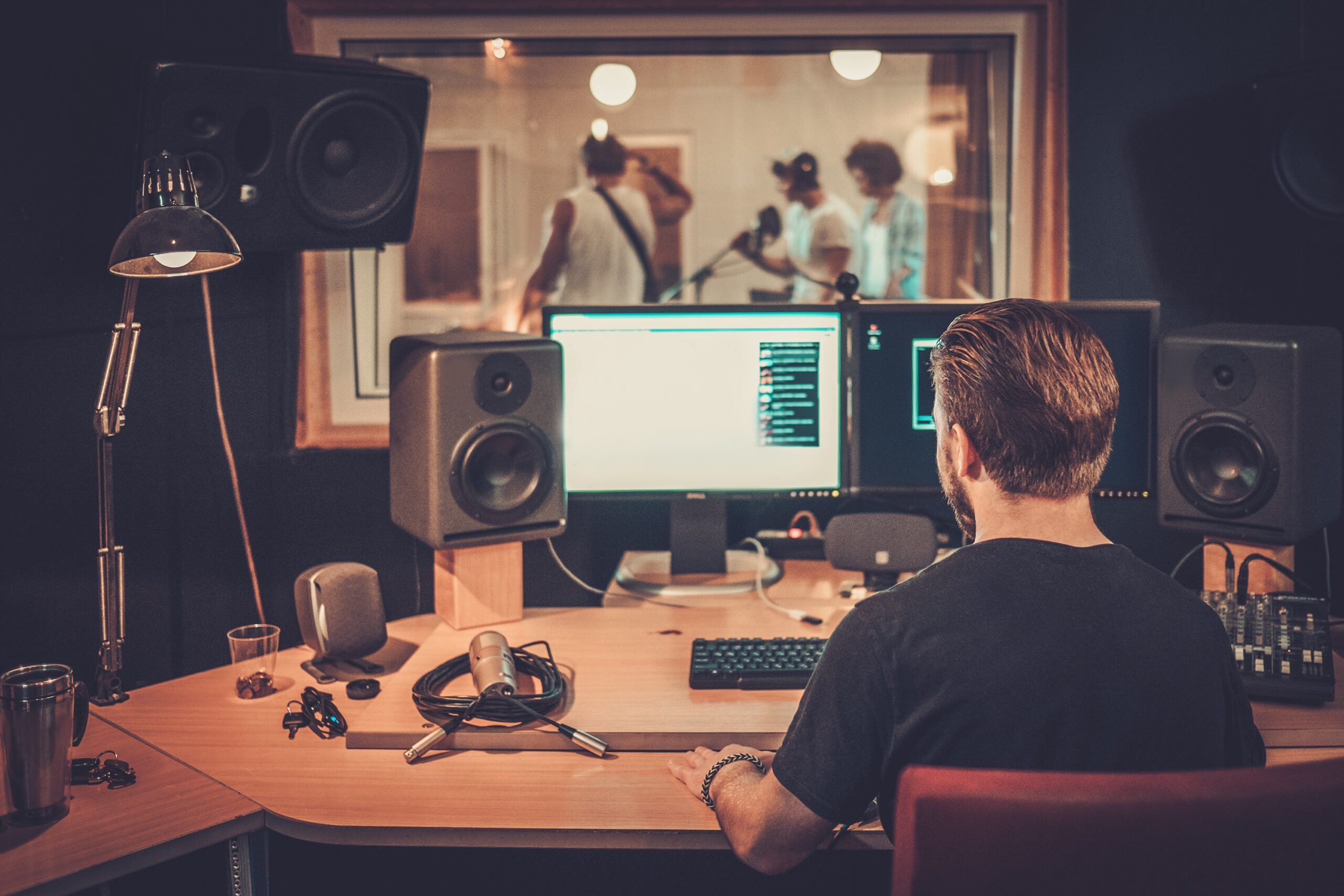 producer in the studio